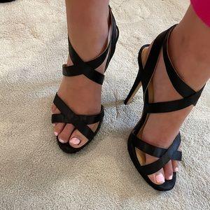 Black open toed heals